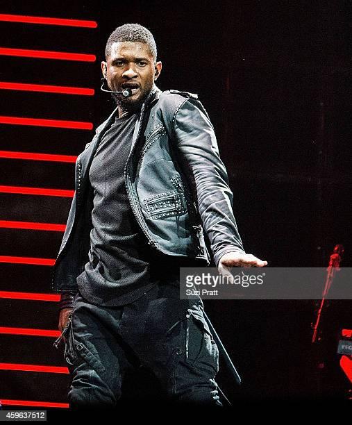 Usher performs as part of his URX Tour at KeyArena on November 26 2014 in Seattle Washington