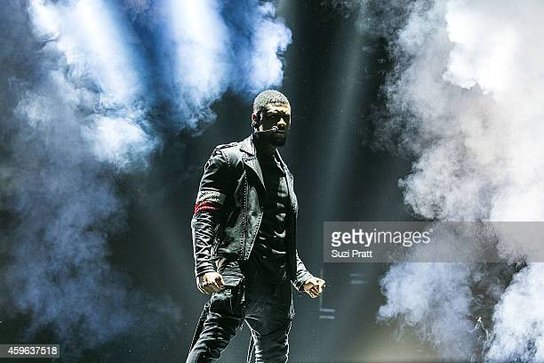 Usher performs as part of his URX Tour at KeyArena on November 26 2014 in Seattle Washington