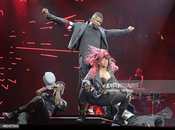 Usher performs at American Airlines Arena on December 13 2014 in Miami Florida