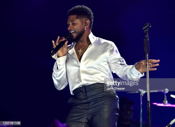 Usher performs at the 62nd Annual GRAMMY Awards on January 26, 2020 in Los Angeles, California.