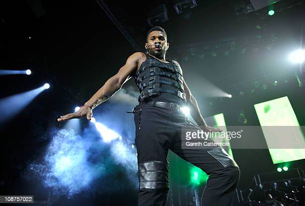 Usher performs at The O2 Arena on February 2 2011 in London England