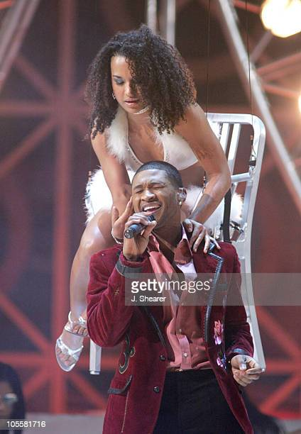 Usher performs Bad Girl during 2004 Billboard Music Awards Show at MGM Grand Garden in Las Vegas Nevada United States