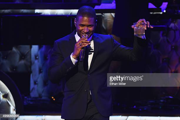 Usher performs during 'Sinatra 100 An AllStar GRAMMY Concert' celebrating the late Frank Sinatra's 100th birthday at the Encore Theater at Wynn Las...