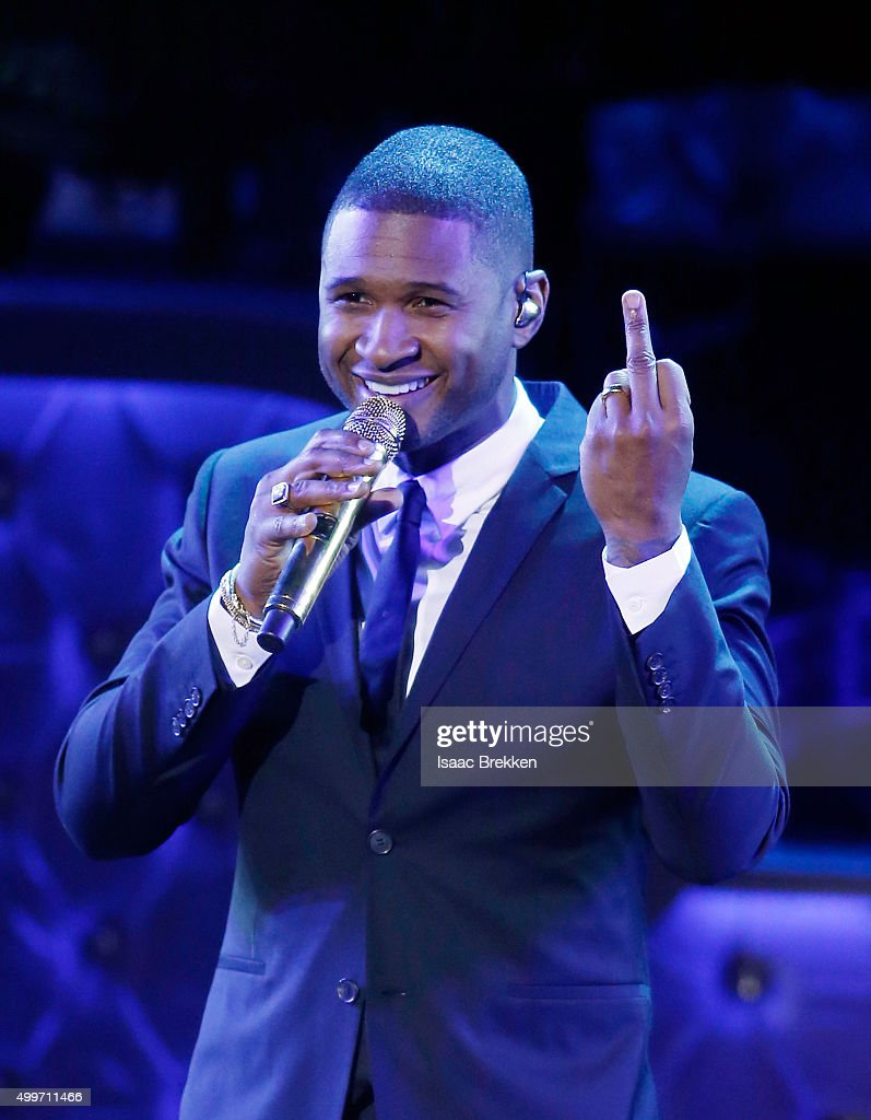 Usher performs during 'Sinatra 100: An All-Star GRAMMY Concert' celebrating the late Frank Sinatra's 100th birthday at the Encore Theater at Wynn Las Vegas on December 2, 2015 in Las Vegas, Nevada. The show will air on CBS on December 6.
