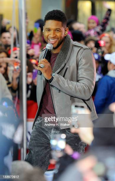 Usher performs on NBC's Today in the TODAY Plaza on November 23 2011 in New York City