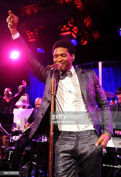 Usher performs onstage during Gabrielle's Angel Foundation Hosts Angel Ball 2013 at Cipriani Wall Street on October 29 2013 in New York City