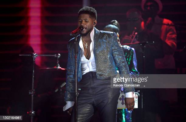 Usher performs onstage during the 62nd Annual GRAMMY Awards at Staples Center on January 26 2020 in Los Angeles California