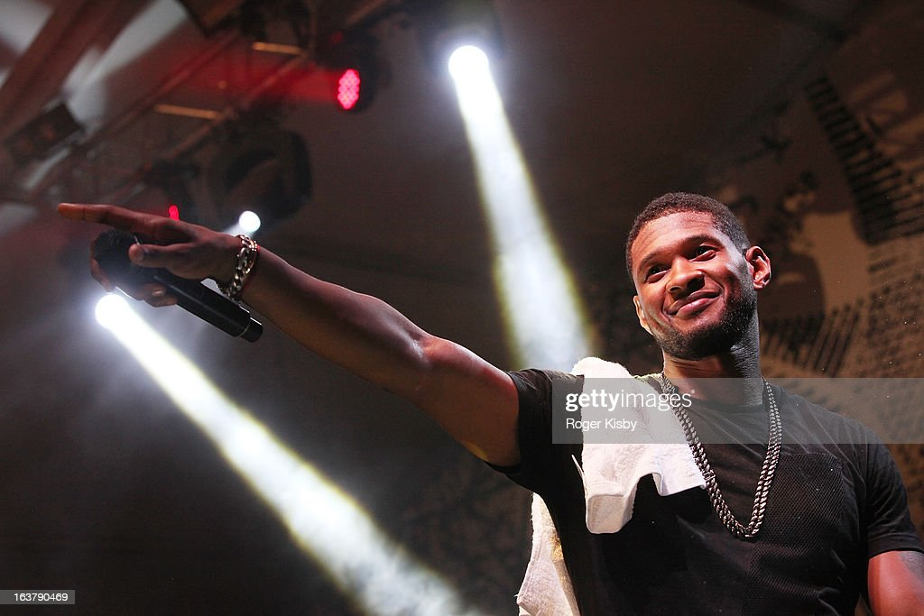 Usher performs with The Afghan Whigs at The Fader Fort presented by Converse during SXSW on March 15, 2013 in Austin, Texas.