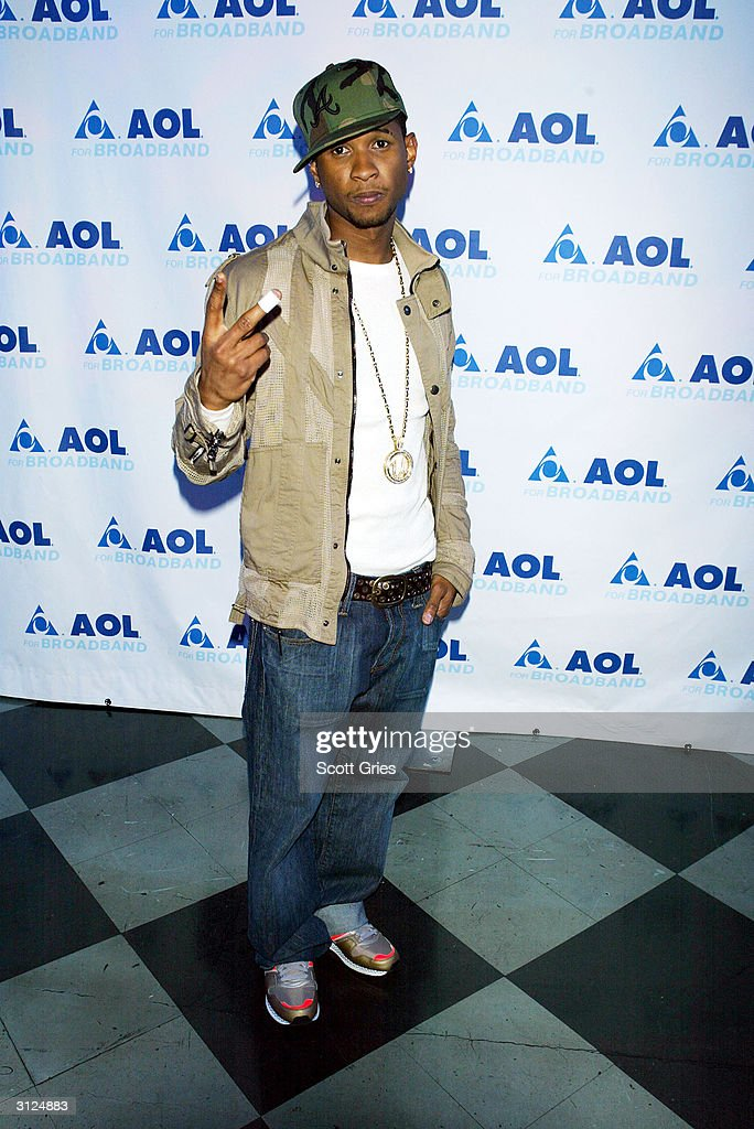 Usher Celebrates Album Release With AOL In New York