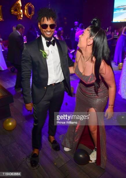 Usher Raymond and Jennifer Goicoechea attend Keith Thomas' 40th Birthday Celebration at Republic on June 4 2019 in Atlanta Georgia