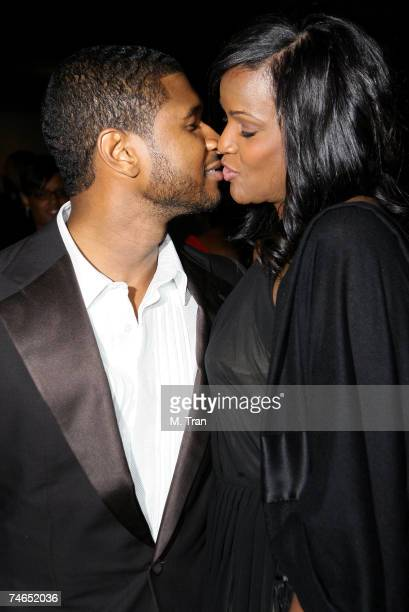 Usher Raymond and Tameka Foster at the 17th Annual NAACP Theatre Awards Arrivals at Directors Guild of America in Los Angeles California