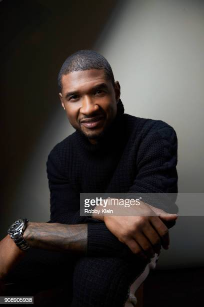 Usher Raymond from the film 'Burden' poses for a portrait at the YouTube x Getty Images Portrait Studio at 2018 Sundance Film Festival on January 21...