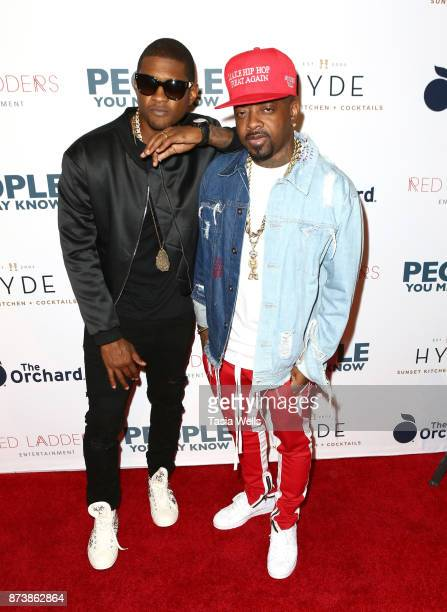 Usher Raymond IV and Jermaine Dupriat the premiere of The Orchard's 'People You May Know' at The Grove on November 13 2017 in Los Angeles California