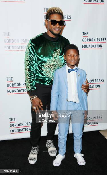 Usher Raymond IV and Usher Raymond V attend the 2017 Gordon Parks Foundation Awards Gala at Cipriani 42nd Street on June 6 2017 in New York City