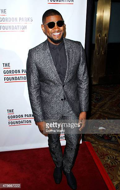 Usher Raymond IV attends the 2015 Gordon Parks Foundation Awards Dinner Auction at Cipriani Wall Street on June 2 2015 in New York City