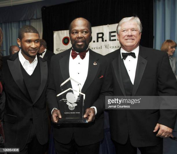'Usher' Raymond the Fourth and Roy Innis National Chairman of CORE and Haley Barbour Governer of Mississippi