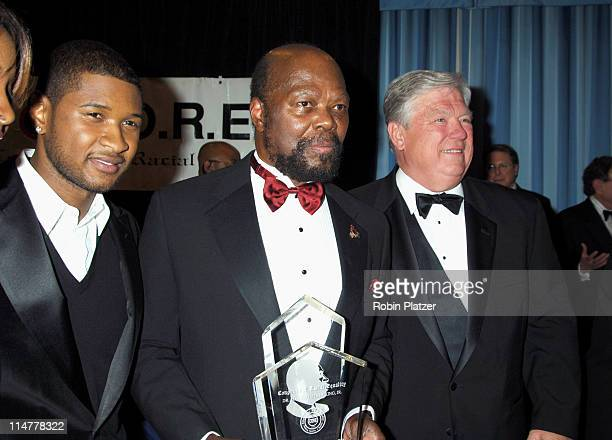 Usher Roy Innis and Governor Haley Barbour during CORE Hosts the Martin Luther King Ambassadorial Reception and Awards Dinner Reception at New York...