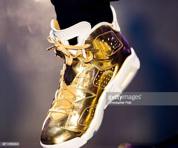 Usher shoe detail performs at Real 923's The Real Show at The Forum on November 5 2016 in Inglewood California