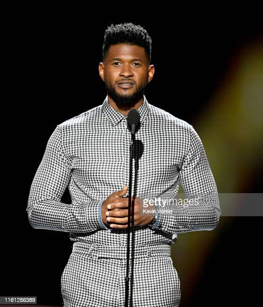 Usher speaks onstage during The 2019 ESPYs at Microsoft Theater on July 10 2019 in Los Angeles California