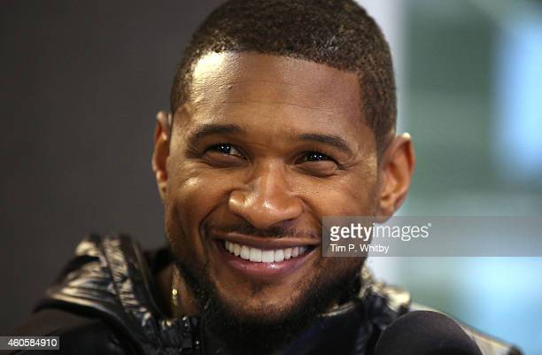 Usher visits the Kiss FM Studio's on December 17 2014 in London England