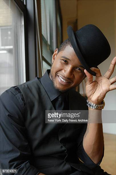 Usher who's in costume as lawyer Billy Flynn is on hand at the Ripley Grier Studios on 8th Ave off W 36th St to rehearse the song and dance number...