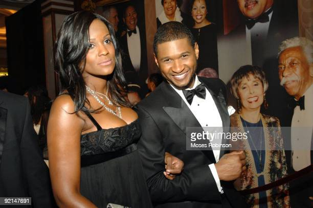 Usher with Tameka Foster