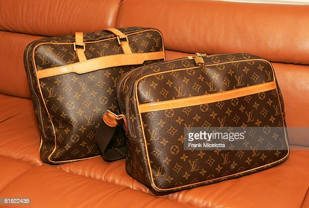 Usher's Louis Vuitton luggage in his tour bus during his 'The Truth Tour 2004' at the Mariner Arena August 6 2004 in Baltimore Maryland