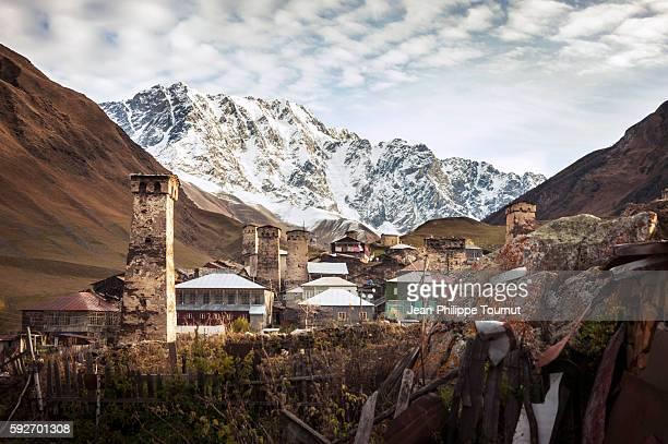 Ushguli, one of the highest inhabited settlements in Europe, Upper Svaneti, Georgia