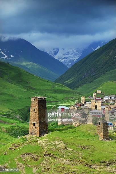 Ushguli village, Georgia, Caucasus mountains