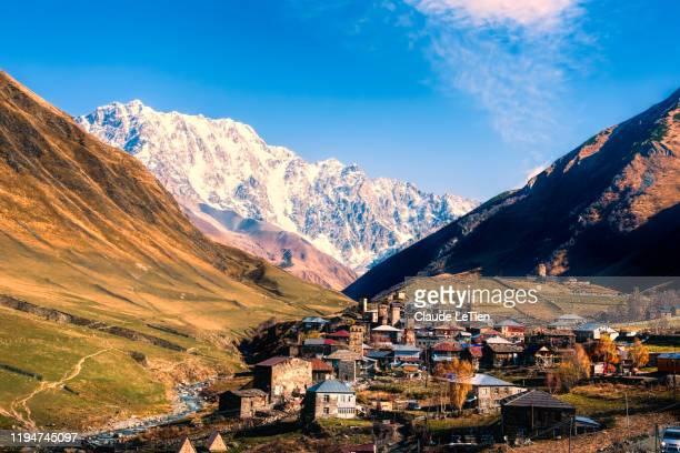 ushguli village - コーカサス山脈 ストックフォトと画像