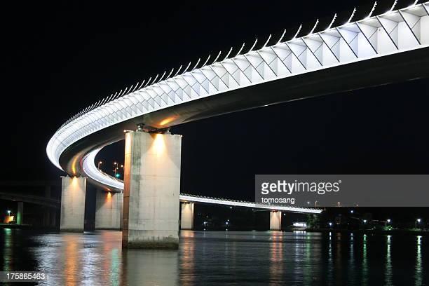 ushibuka haiya bridge - kumamoto prefecture stock pictures, royalty-free photos & images