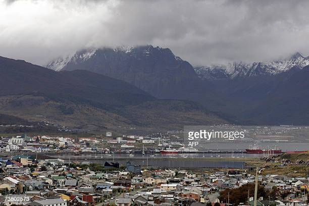 Picture of Ushuaia the capital of the Argentine province of Tierra del Fuego the world's southernmost city taken on March 31st 2007 It's located on...