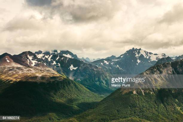 ushuaia nature landscape, patagonia, argentina - patagonia chile stock photos and pictures