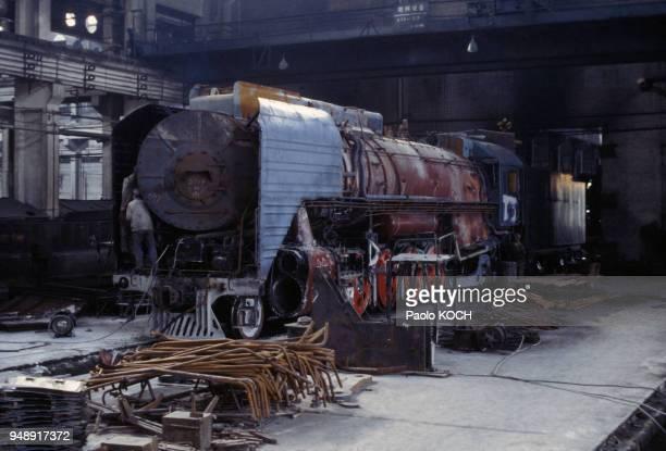 Usine de locomotives à vapeur à Datong, Chine.