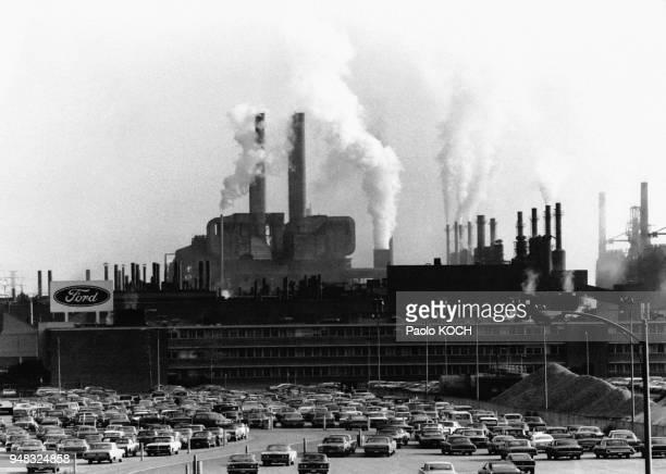 Usine Ford de River Rouge à Dearborn près de Détroit dans le Michigan aux EtatsUnis en 1970