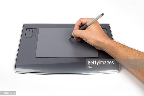 Using a digital graphic tablet