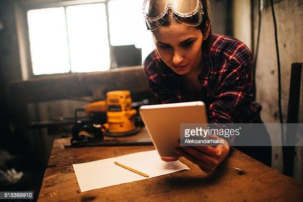Mit einer Digitaltablett in einem Workshop