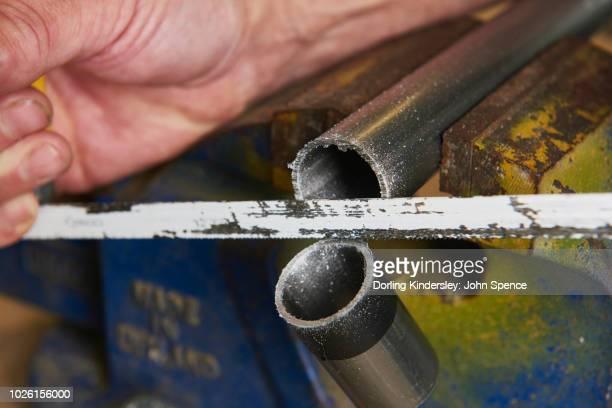 Using a hacksaw -  4. Sawing Metal