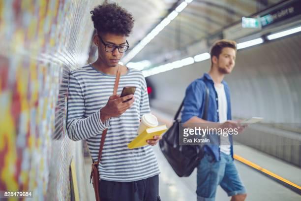 Verwenden ein smart phone