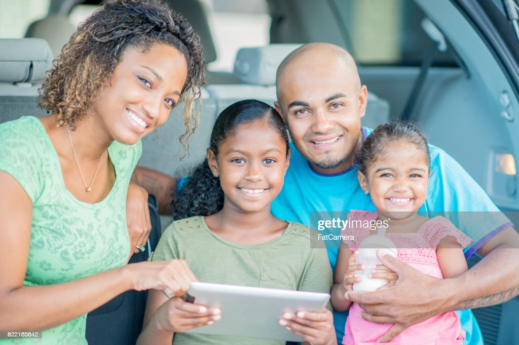 Using A Tablet Map : Stock Photo