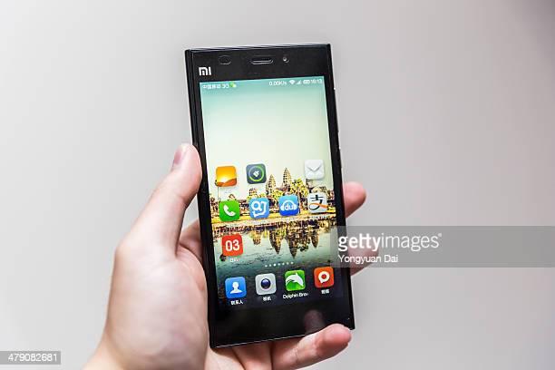 usando um smartphone xiaomi - sistema operativo - fotografias e filmes do acervo