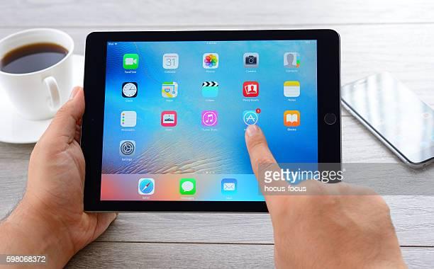 Using Apple iPad tablet computer