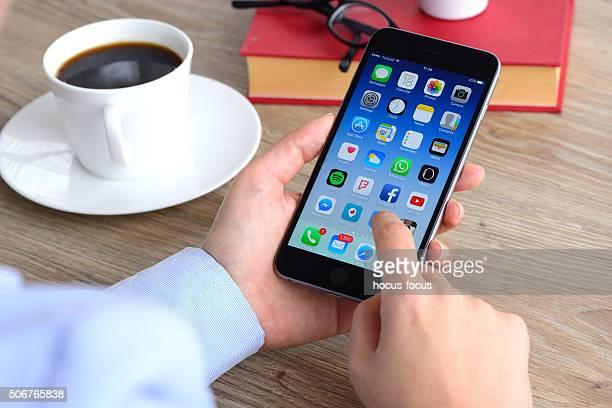 Using Apple iPhone smart phone