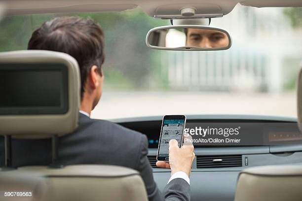 Using cell phone while driving car
