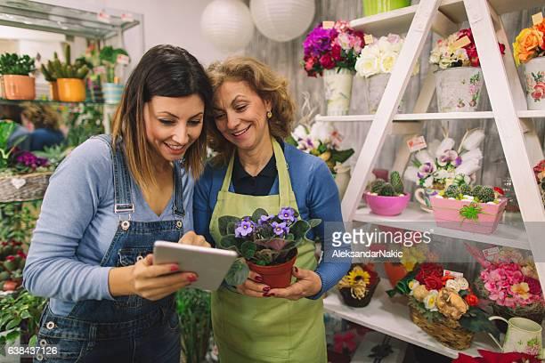 Using digital tablet for doing business