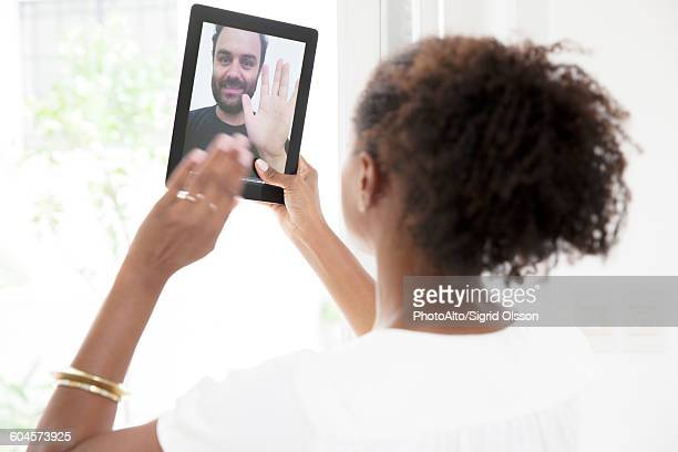 Using digital tablet to video conference