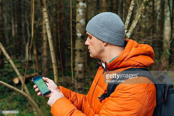Using GPS for orienteering in woods and nature