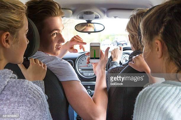 GPS-Verwendung auf einem Smartphone