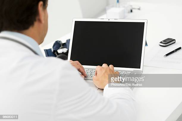 Using laptop computer