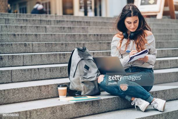 using modern technology for education - campus stock pictures, royalty-free photos & images